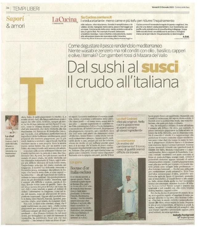 23 gennaio 2015 Corriere della Sera